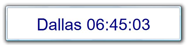 Click to view Configurable Desktop Clock 1.1 screenshot