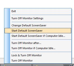 User Defined Turn Off Monitor System Tray Menu