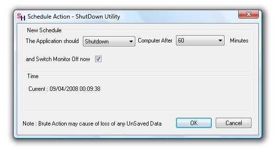 Screenshot of ShutDown Utility