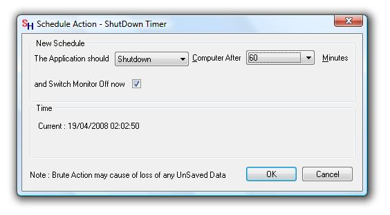 Screenhot of Shutdown Timer